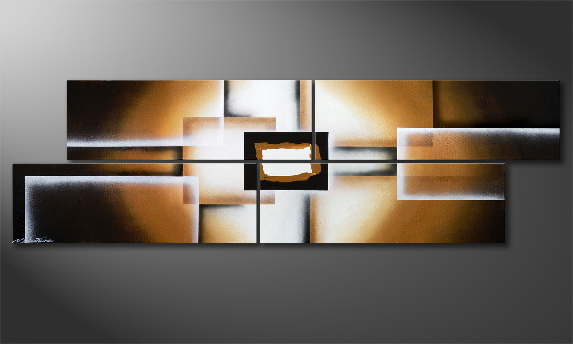 Das moderne bild earth construction 200x60cm wandbilder xxl for Moderne wandbilder