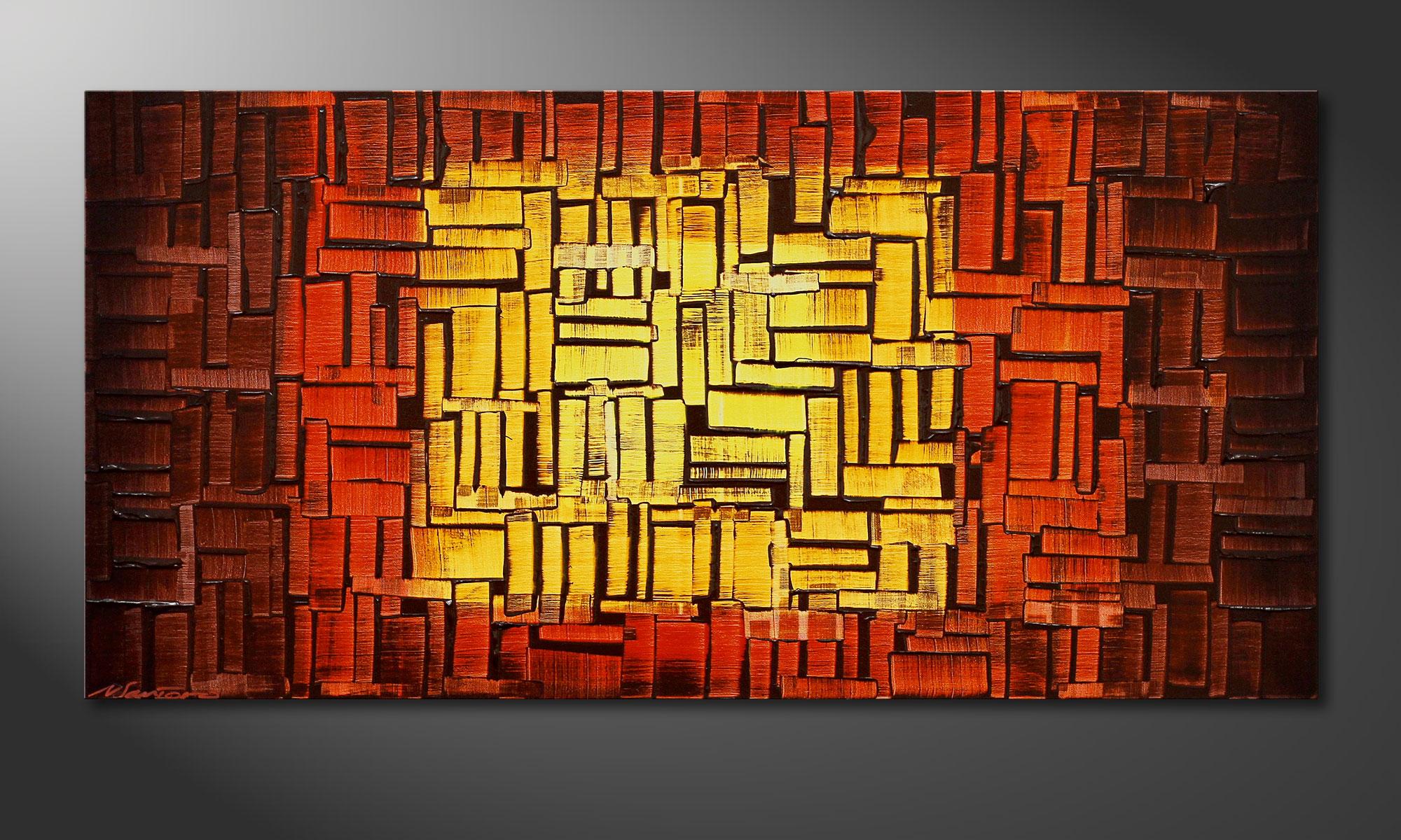 Unser Wandbild Fire Cubes In 120x60cm Wandbilder Xxl