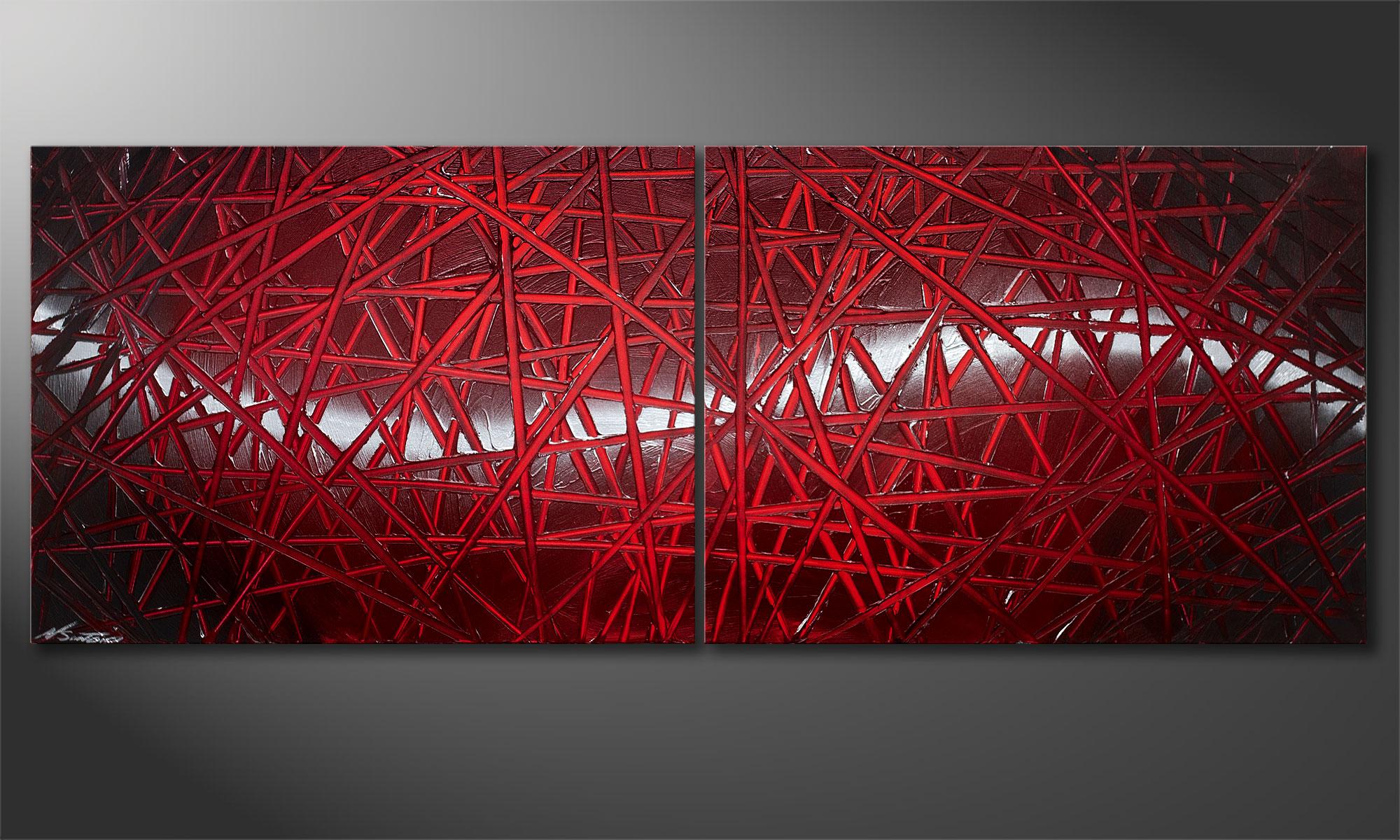 Unser Wandbild Red Push 160x60cm Wandbilder Xxl
