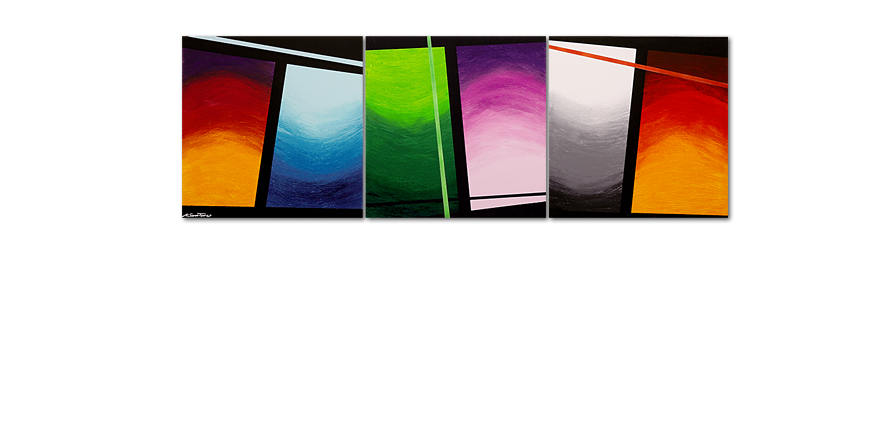 Wandbild im Großformat Wave of Colors 240x80cm