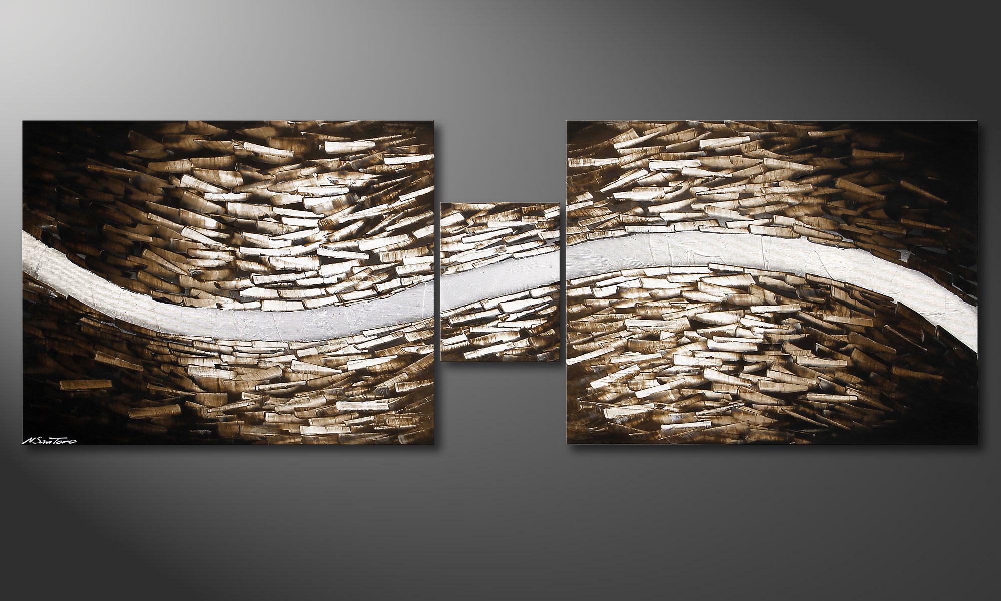 Wohnzimmerbild Clear River 230x80cm - Wandbilder XXL