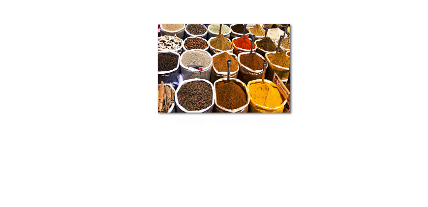 Das Leinwandbild Colorful Spices 120x80cm