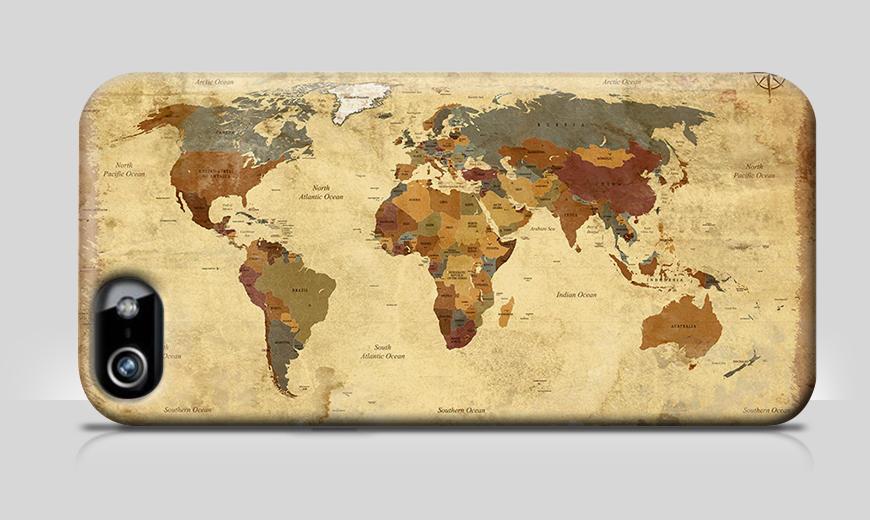 Die Handyhülle Old Worldmap 4