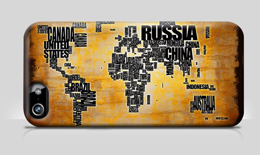 Unsere Handyhülle Weltkarte Nr. 5
