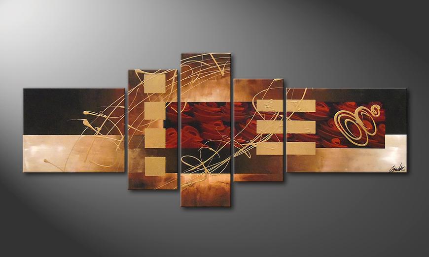 Das Bild Rosy Phantasies 220x90x2cm
