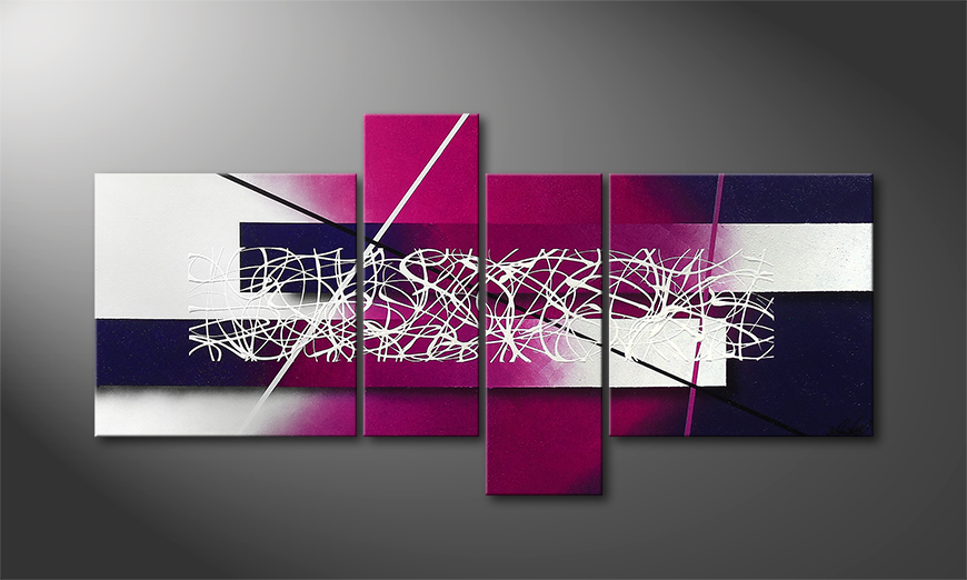 Das Leinwandbild Purple Lights 130x65x2cm