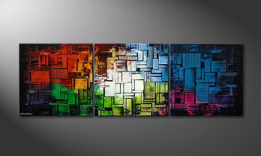Das Wandbild Color Cubes210x70x2cm