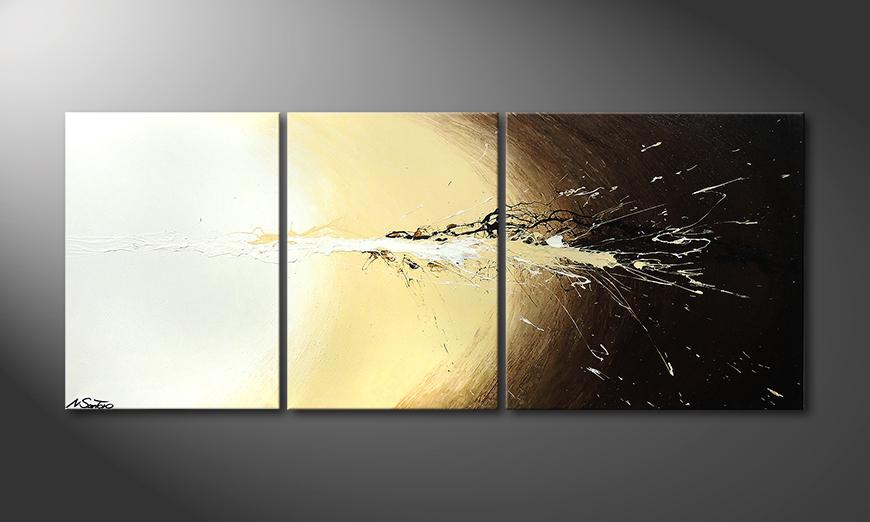 Das Wandbild Exploded Light 170x70x2cm