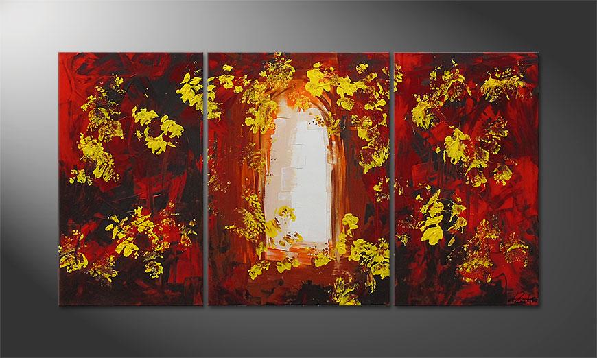 Das Wandbild Garden Gate 130x70x2cm