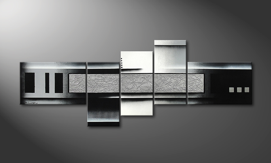 Das Wandbild Grey and Black 210x80x2cm