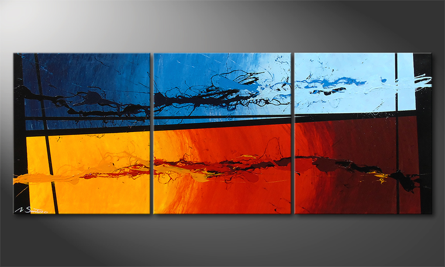 Das Wandbild Hot and Cold 150x60x2cm