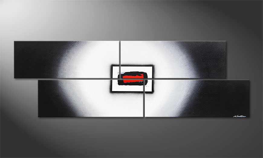 Das Wandbild Inner Heat in 245x80x2cm