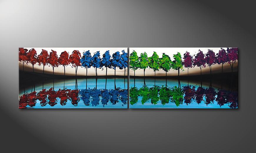 Das Wandbild Miracle Forest 200x60x2cm