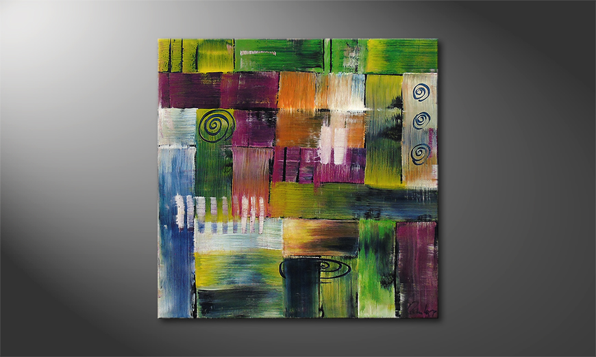 Das Wandbild Moments of  Happiness 80x80x2cm