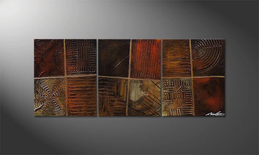 Das Wandbild Potpouri of Memories 120x50x2cm