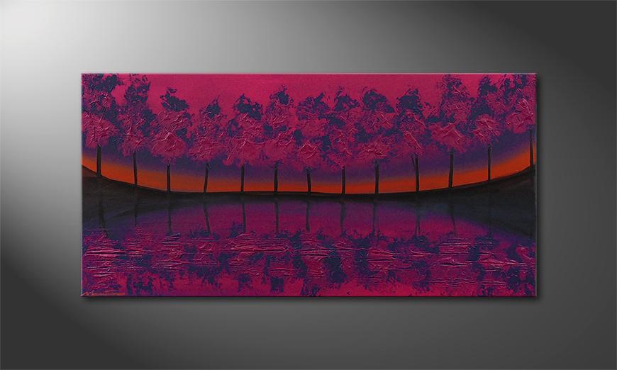 Das Wandbild Purple Tree 120x60x2cm
