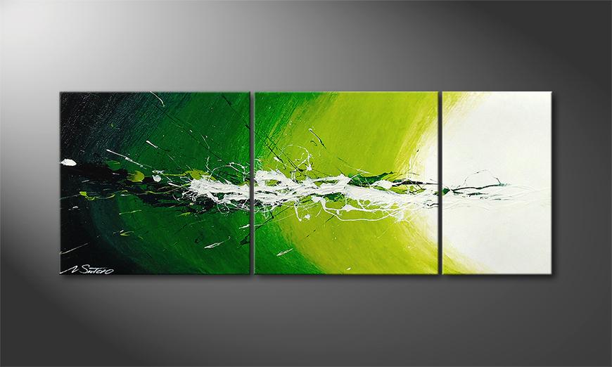 Das Wandbild Spring Splash in 130x50x2cm