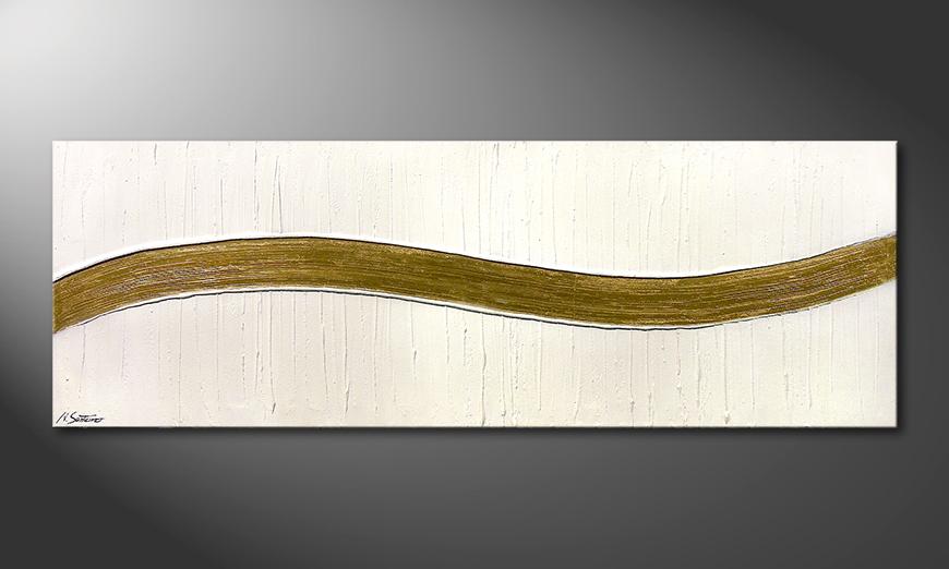 Das Wandbild Swinging Gold 180x60x2cm