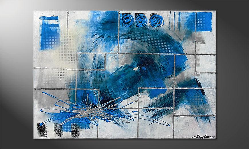 Das Wandbild Water Signs 100x70x2cm