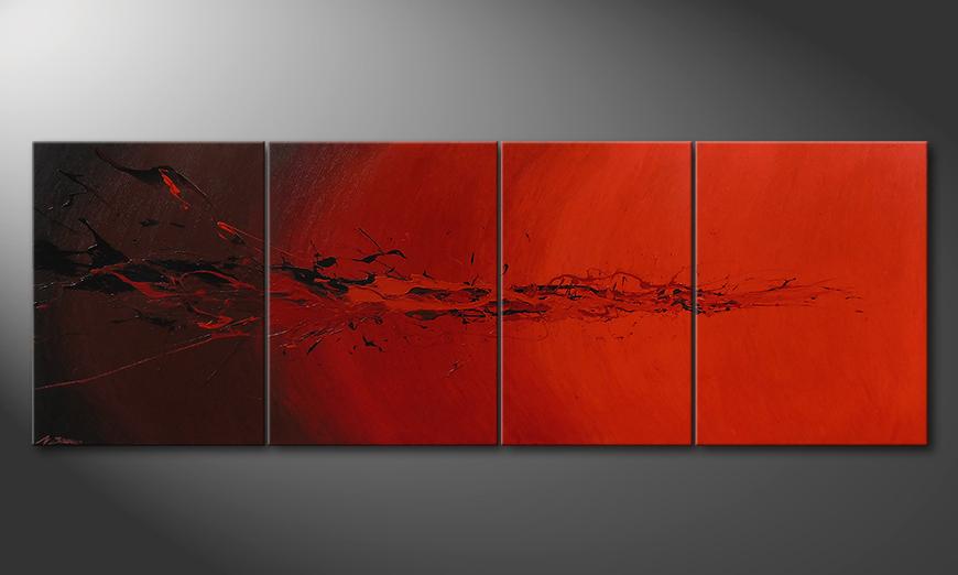 Das Wohnzimmer Bild Devil Splash 230x80x2cm