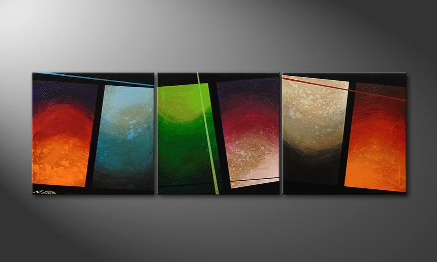 Das Wohnzimmerbild Color Wave 210x70x2cm