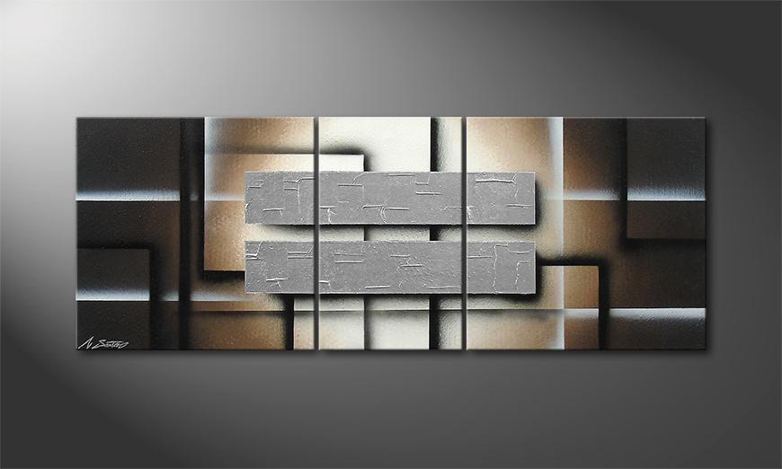 Das Wohnzimmerbild Silver Shine 130x50x2cm