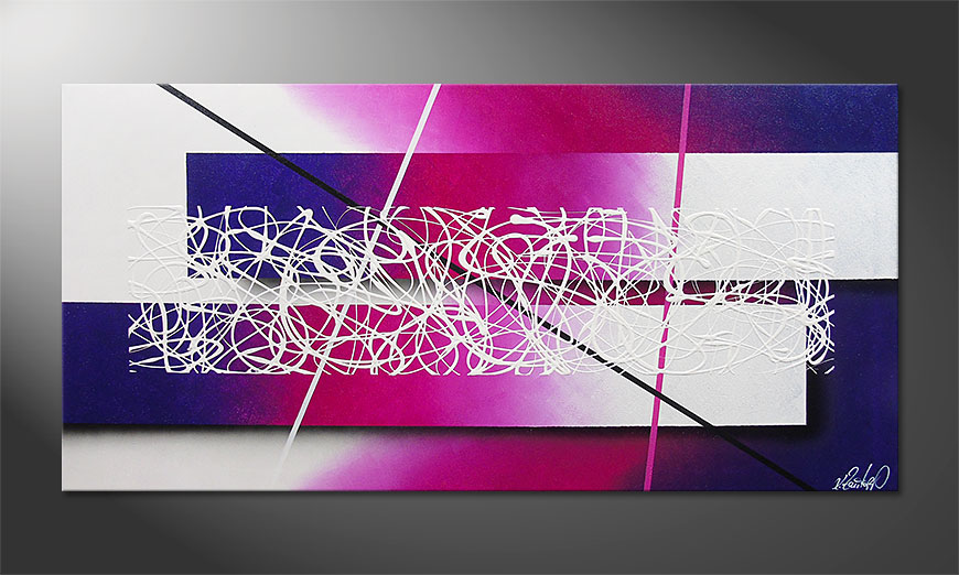 Das moderne Wandbild Fancy Connection 140x70x2cm