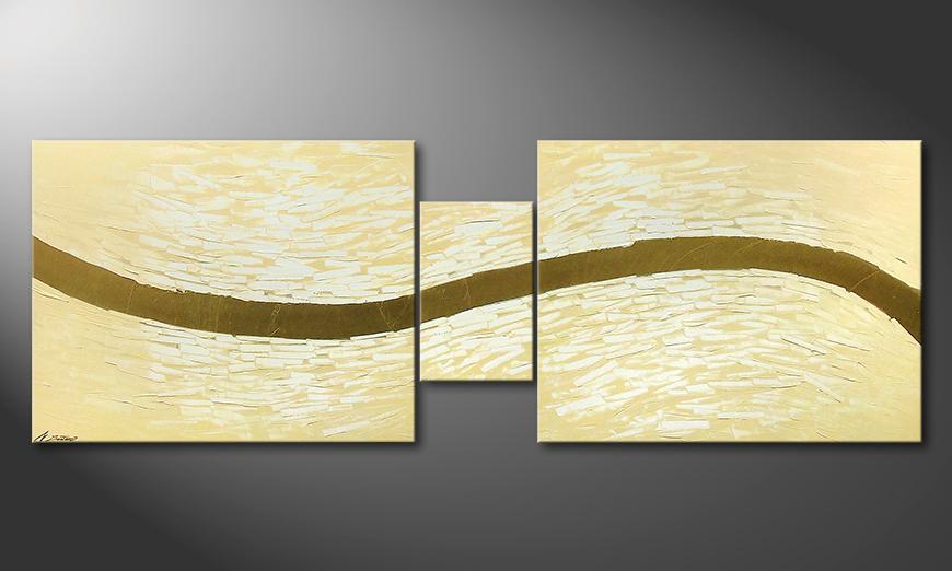 Das moderne Wandbild Gentle River 230x80x2cm