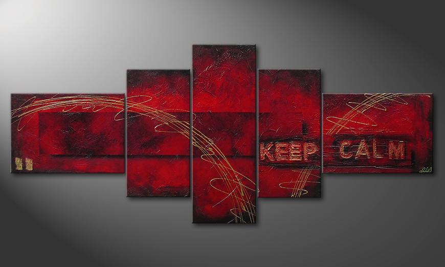 Keep Calm 260x110x4cm Wandbild