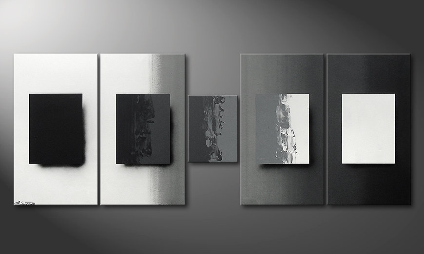 Shades of Grey 230x90x2cm Wandbild