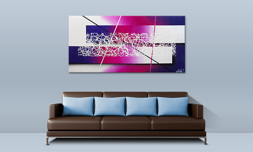Das moderne Wandbild Fancy Connection 140x70cm