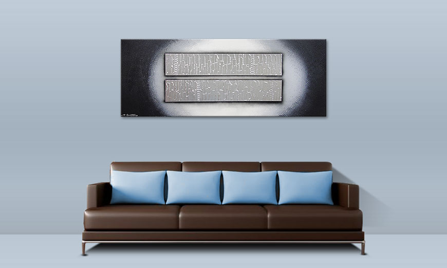 Das Wandbild Blocks of Silver 150x60cm