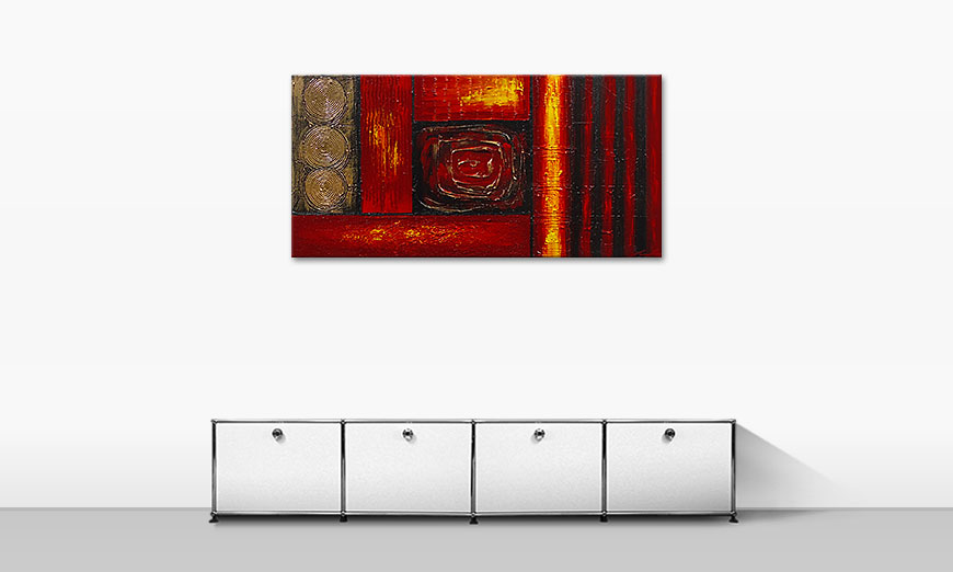 Das Wandbild Emotional Moments 120x60cm