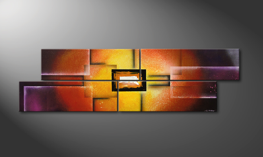 Das Bild Colors of Heat 200x60cm