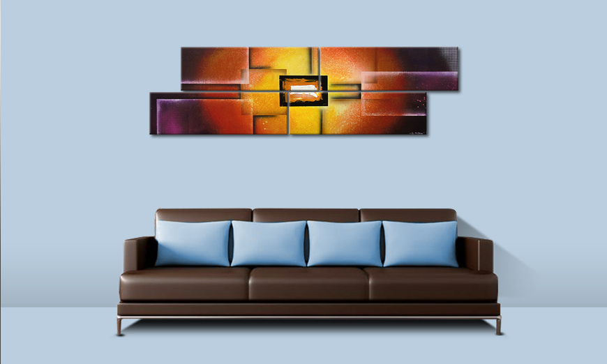 das bild colors of heat 200x60cm wandbilder xxl. Black Bedroom Furniture Sets. Home Design Ideas