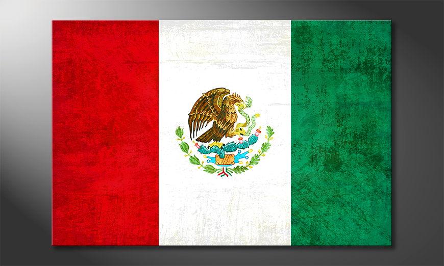 Auf Leinwand gedruckt: Mexiko