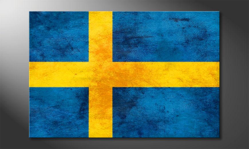 Auf Leinwand gedrucktes Bild: Schweden