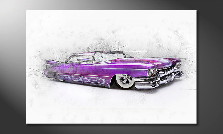 Blickfang-für-die-Wand-Pink-Cadillac