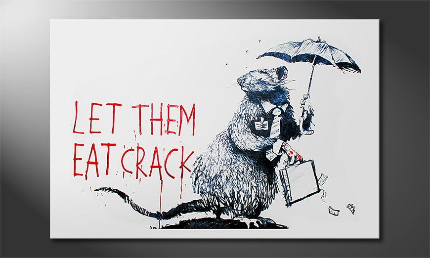 Das Leinwandbild Banksy No16