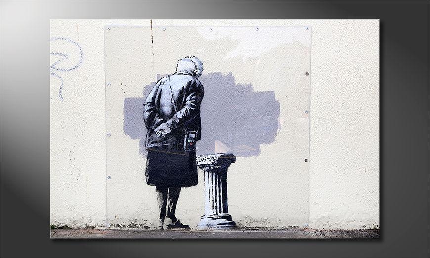 Das Leinwandbild Banksy No2