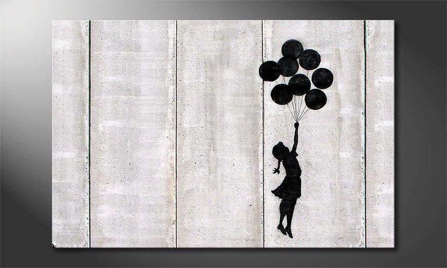 Das Leinwandbild Banksy No3