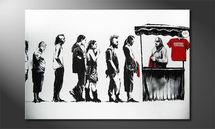 Das Leinwandbild Banksy No6