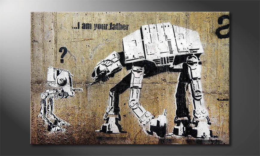 Das Leinwandbild Banksy No9