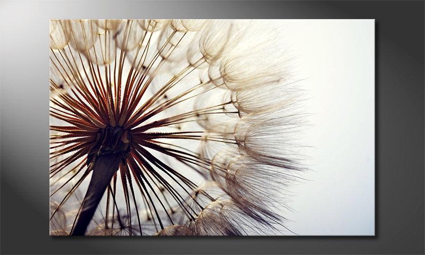 Das Leinwandbild Big Dandelion