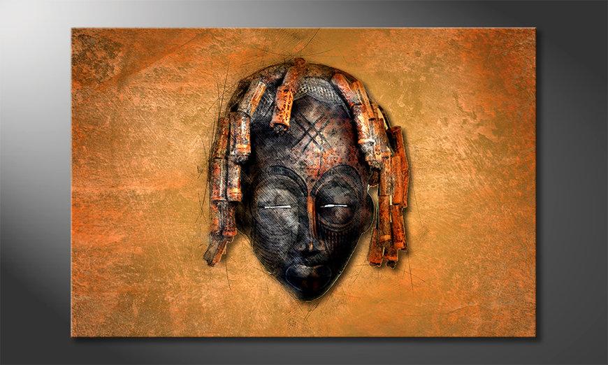 Das Leinwandbild Black Face