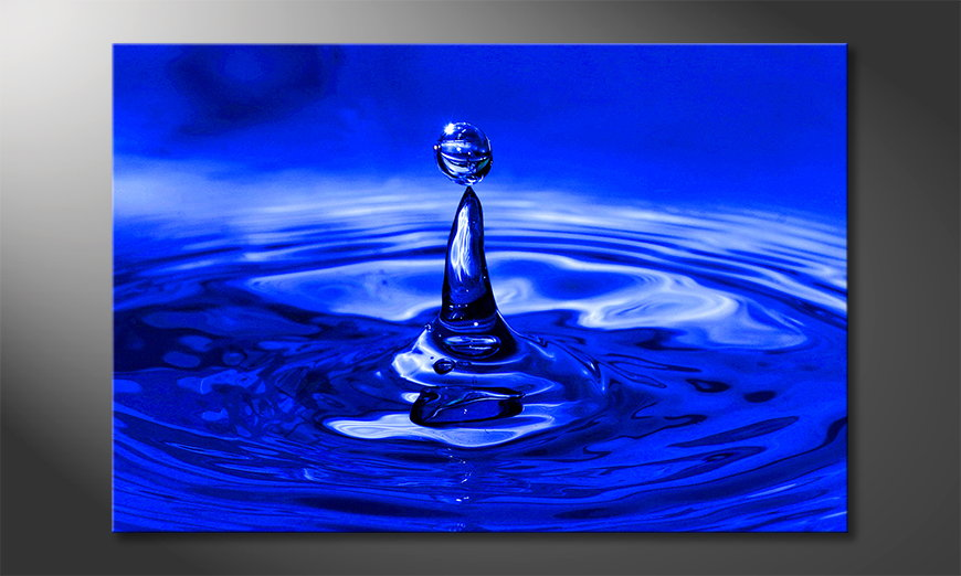 Das Leinwandbild Blue Drop