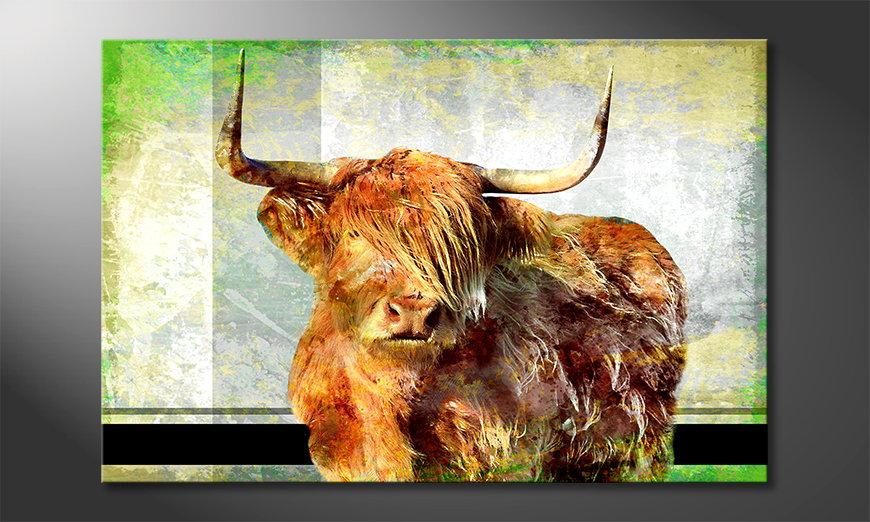 Das Leinwandbild El Toro