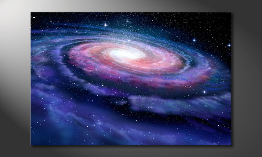 Das Leinwandbild Far Galaxy