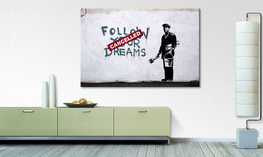 Das Leinwandbild Follow Dreams