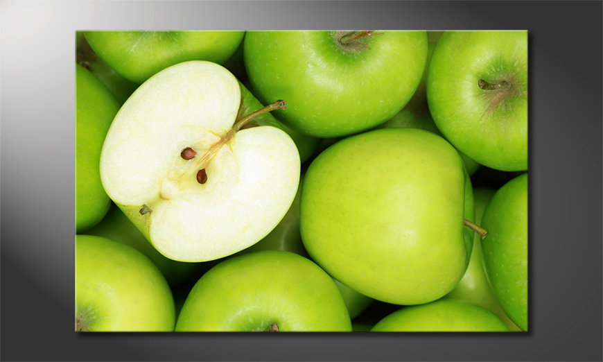 Das-Leinwandbild-Green-Apples